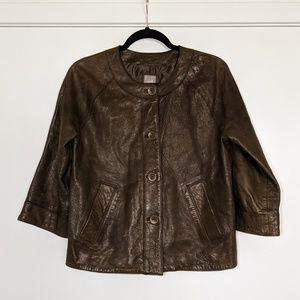 J. Jill || Leather Jacket